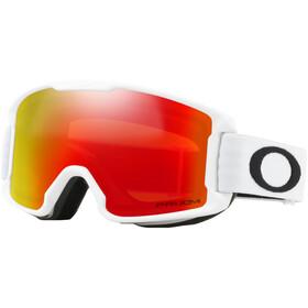 Oakley Line Miner Lunettes de ski Enfant, matte white/w prizm snow torch iridium